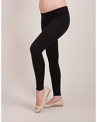 Seraphine Tammy - Leggings in Bambù Premaman Senza Cuciture Nuovo Modello - Nero (anche per l'attività fisica!) Leggings