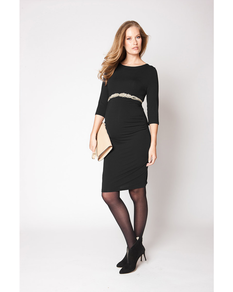 Seraphine Tessa Maternity Shift Dress - Black Tessa - Abito Tubino Premaman  - Nero Vestiti c3f85effc68