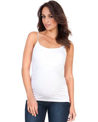Seraphine Top Canotta Premaman con Supporto Segreto Lilli - Bianca T-Shirt e Canotte
