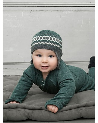 Serendipity Organics Baby Sweat Suit - Lovely Green Melange - 100% Organic Cotton Rompers