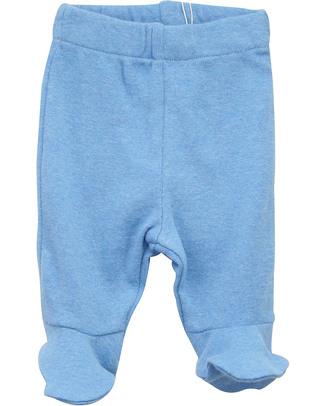 Serendipity Organics Pantaloni Prematuri con Piedini - Blu (Cotone Bio) Pantaloni Lunghi