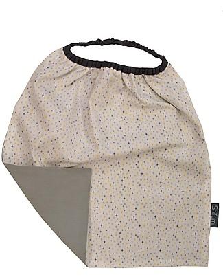 Shifumi  Bavaglio con elastico - Stampa Stelle Grigio 100% Cotone (Perfetto per l'asilo: si infila dalla testa senza lacci!)  Bavagli Con Elastico