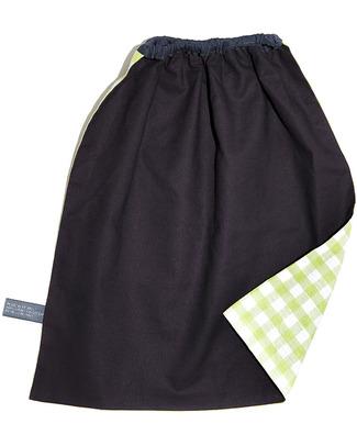 Shifumi Bavaglio con elastico - Vichy Verde 100% Cotone (Perfetto per l'asilo: si infila dalla testa senza lacci!) -  Bavagli Con Elastico