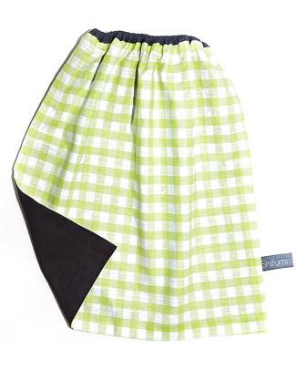 Shifumi Bavaglio con elastico - Vichy Verde 100% Cotone (Perfetto per l'asilo: si infila dalla testa senza lacci!) -  null