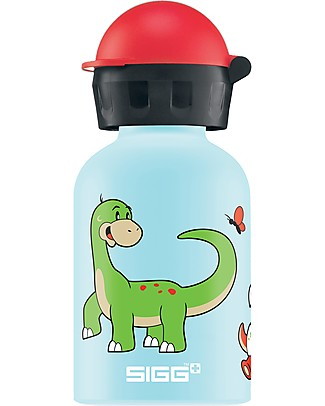 SIGG Borraccia Dino Family - 0,3 L con Beccuccio Anti-goccia - Leggera, sicura e atossica Borracce Metallo