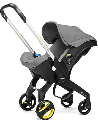Simple Parenting Doona+, Seggiolino Auto con Ruote 2-in-1, Grigio - Approvato sia come seggiolino gruppo 0+ sia come passeggino! Seggiolini Auto