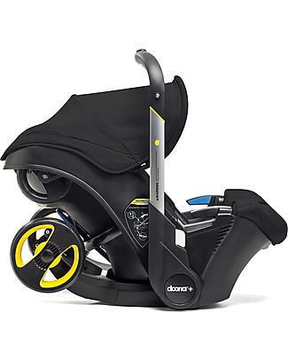 Simple Parenting Doona+, Seggiolino Auto con Ruote 2-in-1, Nero - Approvato come passeggino! Seggiolini Auto