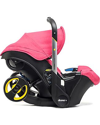 Simple Parenting Doona+, Seggiolino Auto con Ruote 2-in-1, Rosa - Approvato come passeggino! null