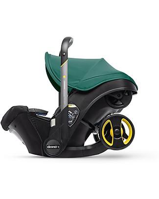 Simple Parenting Doona+, Seggiolino Auto con Ruote 2-in-1, Verde Racing - Approvato come passeggino! Passeggini
