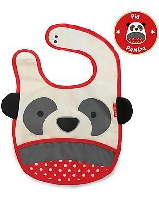 Skip Hop Bavaglio Tecnico con Tasca, Panda - Impermeabile, si ripiega e non sporca! Bavagli Impermeabili