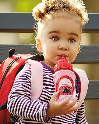 Skip Hop Borraccia da Viaggio Zoo con Cannuccia per Bambini, Coccinella - Tappo Flip-Top! Borracce senza BPA