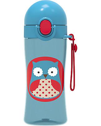 Skip Hop Borraccia Sportiva per Bambini, Gufo - Tappo di Chiusura! Borracce senza BPA