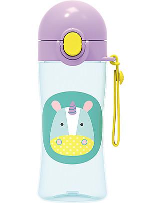 Skip Hop Borraccia Sportiva per Bambini, Unicorno - Tappo di Chiusura! Borracce senza BPA