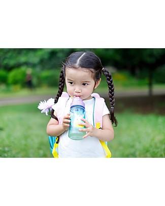 Skip Hop Bottiglia da Viaggio Zoo con Cannuccia per Bambini, Unicorno - Tappo Flip-Top! Borracce senza BPA