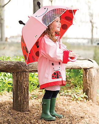 Skip Hop Impermeabile Foderato Coccinella con Cappuccio e Maniche Regolabili - Taglia 3-4 Cappotti
