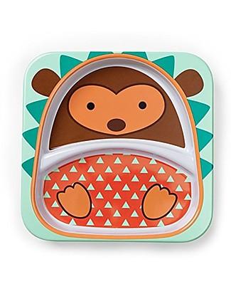 Skip Hop Piatto Zoo in Melamina per Bambini, Riccio - Diviso in due Sezioni! Piatti e Scodelle