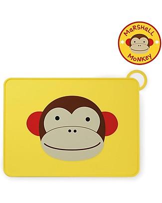 Skip Hop Tovaglietta Fold & Go in Silicone, Scimmietta - 42 x 30,5 cm, Senza BPA, PVC, piombo, latex o ftalati null