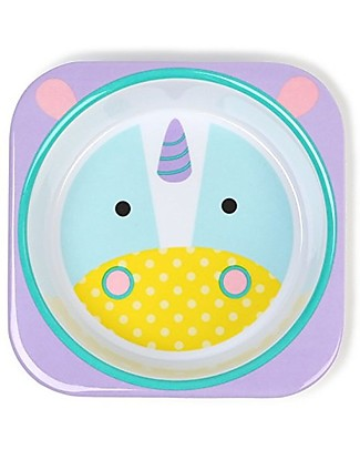 Skip Hop Zoo Little Kid Bowl in Melamine, Unicorn - Safe and Durable! Bowls & Plates