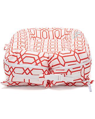 SleepyHead Riduttore Sleepyhead Deluxe+, da 0 a 8 mesi, Coral Trellis -100% cotone Oeko-Tex sfoderabile Riduttori