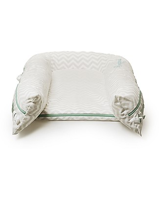 SleepyHead Riduttore Sleepyhead Grand Pod, da 9 a 36 mesi, Zig Zag Argento - 100% cotone Riduttori