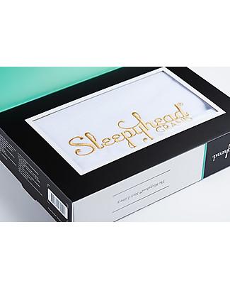 SleepyHead Rivestimento per Riduttore Sleepyhead Grand Pod da 9 a 36 mesi, Pristine White - 100% cotone certificato Oeko-Tex Materassi