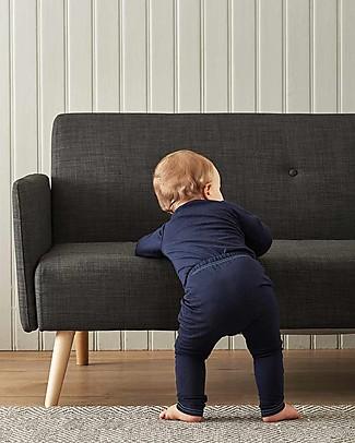 Smalls Aroha, Pantalone Baby 24/7 in 100% Lana Merino, Blu Pantaloni Lunghi