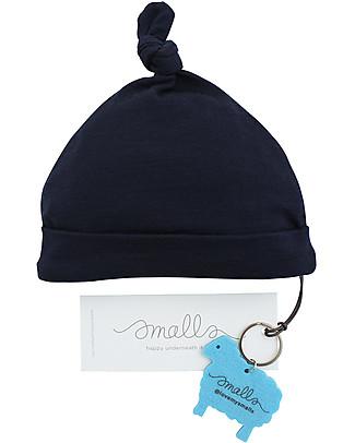 Smalls Cappellino Bebè in 100% Lana Merino, Blu Cappelli