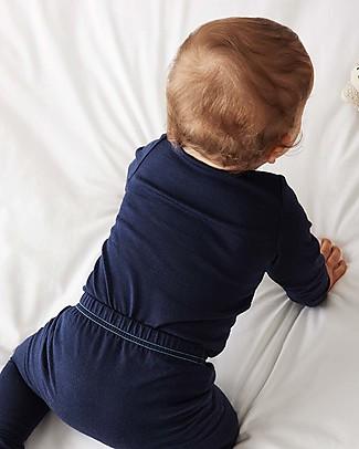 Smalls Maglia a Maniche Lunghe Bimbo in 100% Lana Merino, Blu Maglie Manica Lunga