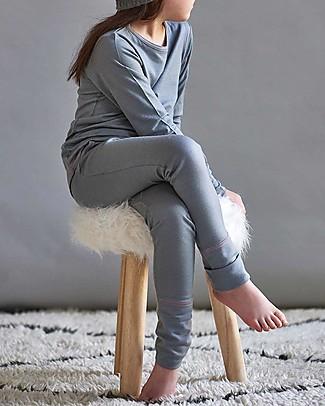 Smalls Pantalone Bambina 24/7 in 100% Lana Merino, Grigio Pantaloni Lunghi
