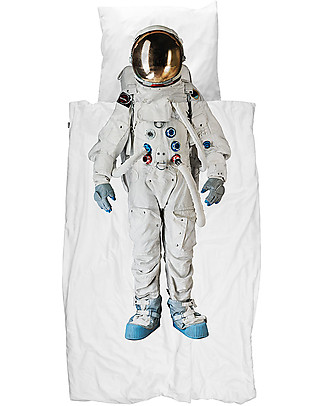 Snurk Set Copripiumino e Federa, Astronauta - Letto Singolo 140 x 200/220 cm - 100% Cotone Coperte