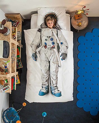 Snurk Set Copripiumino e Federa, Astronauta - Letto Singolo 140 x 200/220 cm - 100% Cotone null