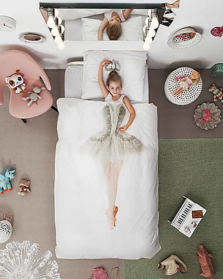 Snurk Set Copripiumino e Federa, Ballerina - Letto Singolo 140 x 200/220 cm - 100% Cotone Coperte