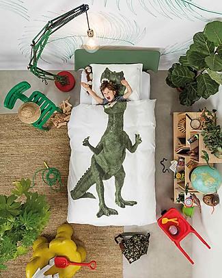Snurk Set Copripiumino e Federa, Dino - Letto Singolo 140 x 200/220 cm - 100% Cotone null