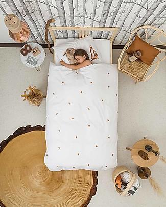 Snurk Set Copripiumino e Federa, Furry Friends - Letto Singolo 140 x 200/220 cm - 100% Cotone Copripiumino e Federe