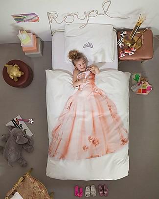 Snurk Set Copripiumino e Federa, Principessa Rosa - Letto Singolo 140 x 200/220 cm - 100% Cotone Coperte