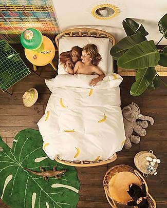 Snurk Set Copripiumino e Federa, Scimmia - Letto Singolo 140 x 200/220 cm - 100% Cotone Copripiumino e Federe