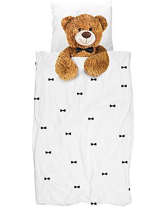 Snurk Set Copripiumino e Federa, Teddy - Letto Singolo 140 x 200/220 cm - 100% Cotone Copripiumino e Federe