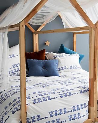 Snurk Set Copripiumino e Federa, Zzz - Letto Singolo 140 x 200/220 cm - 100% Cotone Copripiumino e Federe
