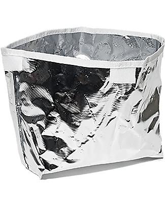 SoYoung Borsa Termica Piccola, Dinosauro Blu – Lino grezzo, lavabile in lavatrice! Borse Pic Nic