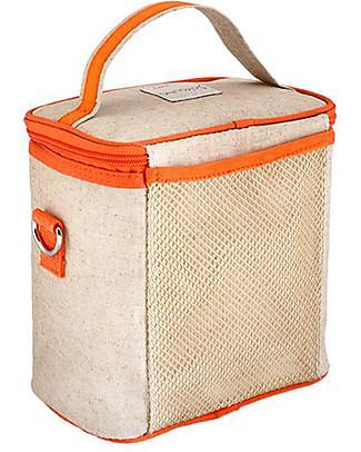 SoYoung Borsa Termica Piccola, Volpe Arancione – Lino grezzo, lavabile in lavatrice! Borse Pic Nic