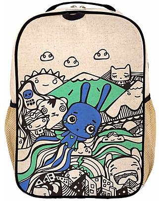 SoYoung Zaino Scuola 6-11 anni, Pixopop Flying Stitch Bunny – Lino grezzo, lavabile in lavatrice! Zainetti