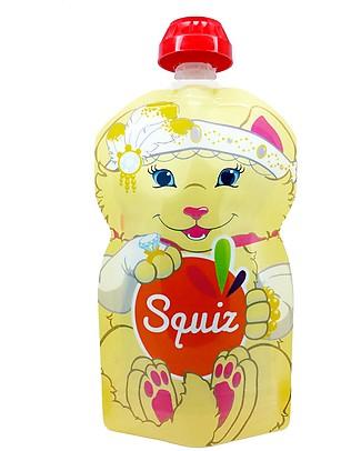 Squiz Eco-Dispenser Pappa Riutilizzabile - Gattina - 130 ml Sacchetto Cibo