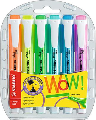 Stabilo Evidenziatori Swing Cool - Astuccio da 6, colori assortiti Colorare