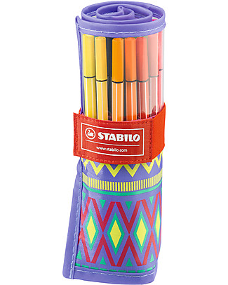 Stabilo Fibre-tip Pens Festival Spirit Rollerset - Case of 25, assorted colours  Colouring Activities