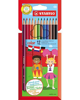Stabilo Matite Colorate - Astuccio da 12, colori assortiti Colorare