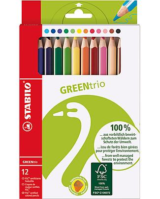 Stabilo Matite Colorate GreenTrio - Astuccio da 12 colori assortiti - Ecologiche! null