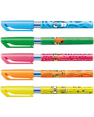 Stabilo Mini Penna a sfera Funnimals con Simpatici Animaletti - Astuccio da 5 Colorare