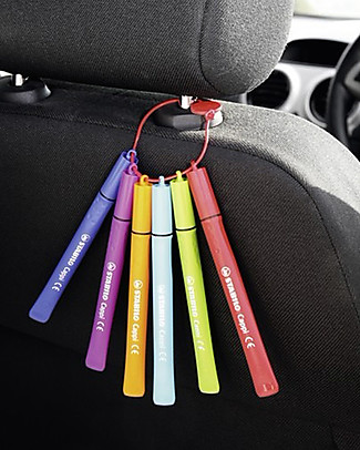 Stabilo Pennarelli Cappi, Astuccio da 12  colori assortiti Colorare