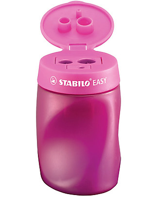 Stabilo Temperamatite Ergonomico Easy 3 in 1 per destrimani - rosa Colorare