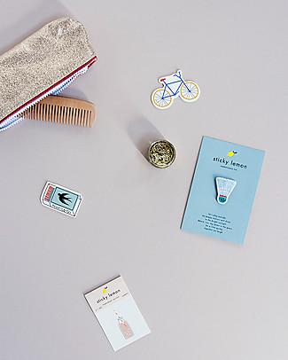 Sticky Lemon Set da 3 Mini Toppe Adesive Decorative, Bici/Fiammiferi/Badmington Regalini